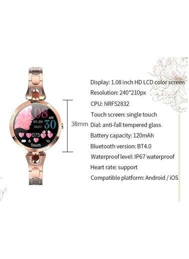 JBL Moda Akıllı Saat Su Geçirmez Smartwatch Gold Renkli